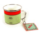 Outdoor Stainless Steel Rim Enamelware Cup, white color enamel mug for UK