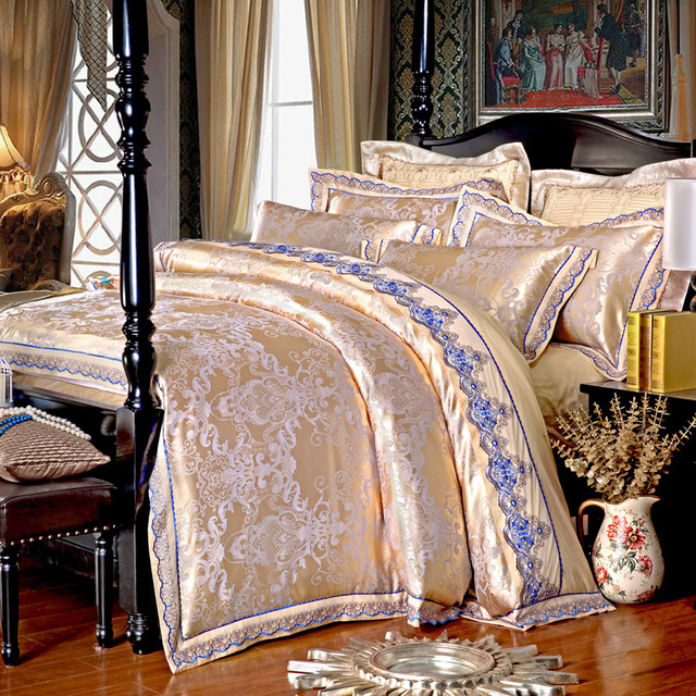 rose de soie literie de luxe draps de coton queen couvre lit couette couette housse de. Black Bedroom Furniture Sets. Home Design Ideas