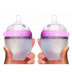 food grade with high quality silicone nipple baby feediFactory price custom silicone baby bottle for feeding