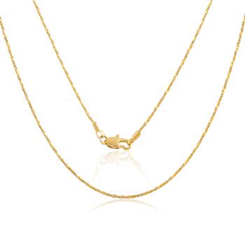 3704939d174a ATHENAA joyería 3 gramos de serpiente de oro fina cadena de clavícula
