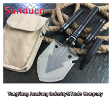 Imported Stainless Steel Shovel Aluminum Handle Folding Multi-functional Shovel