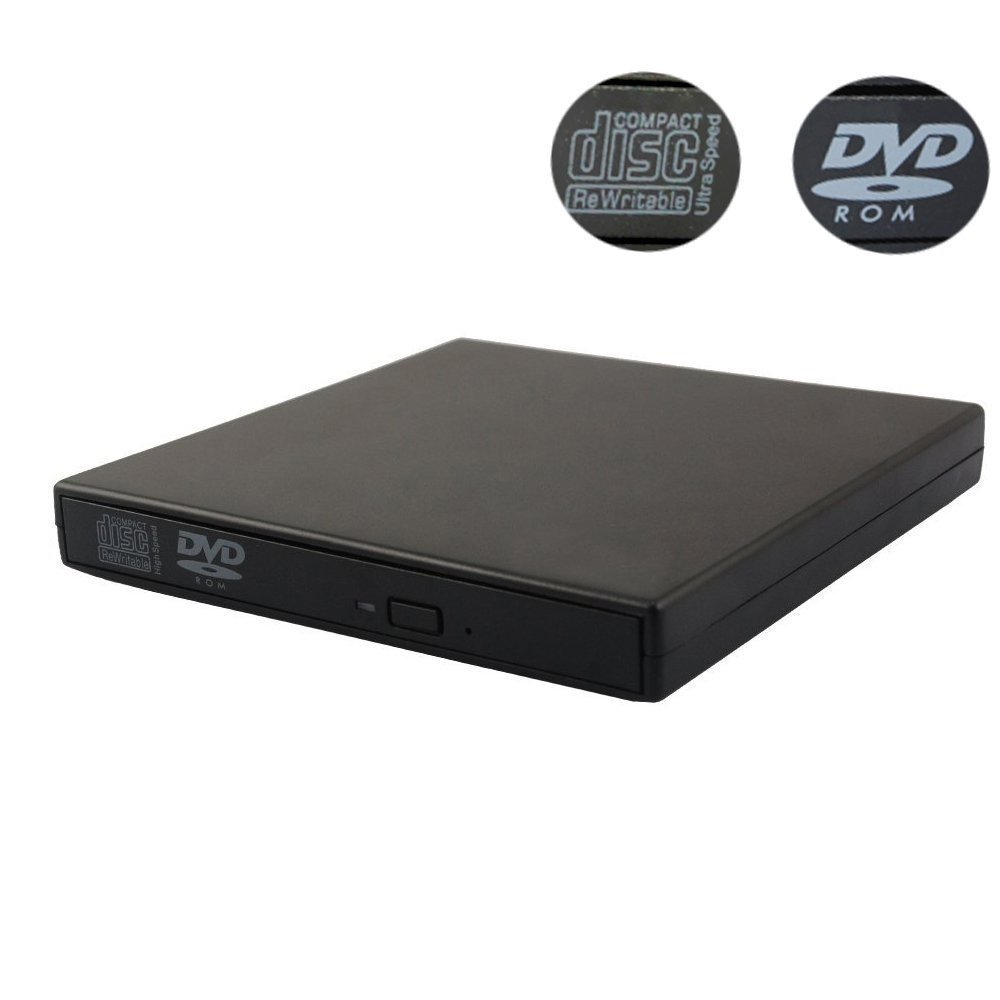 Haiker COMBO DRIVE Super Slim CD-RW / DVD-ROM USB External Drive (Black) for ASUS EeePC Acer Aspire and any computer with USB 2.0 or 1.0 ports