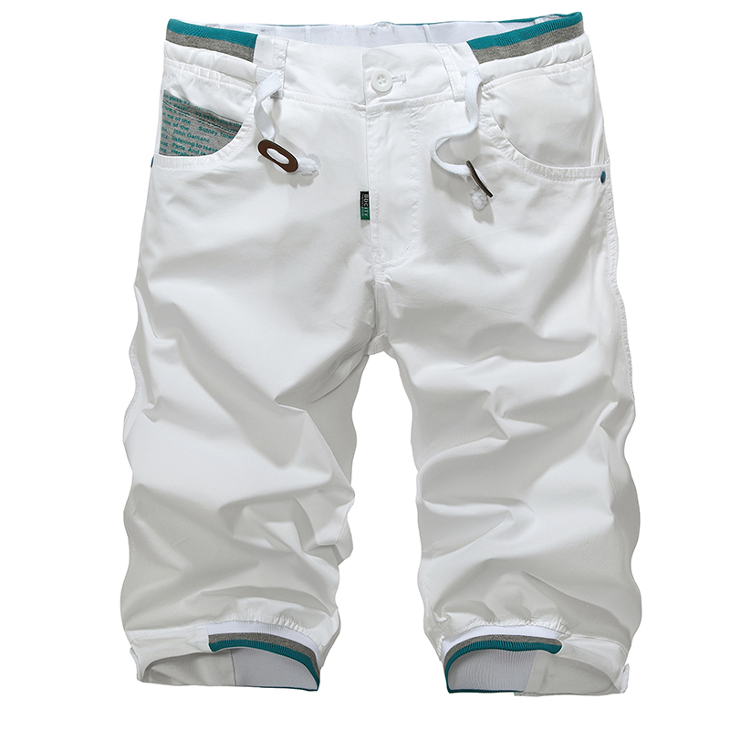 2015 Hot Sale male's leisure/casual short trousers man's shorts black/white/blue/green Drop Shipping,