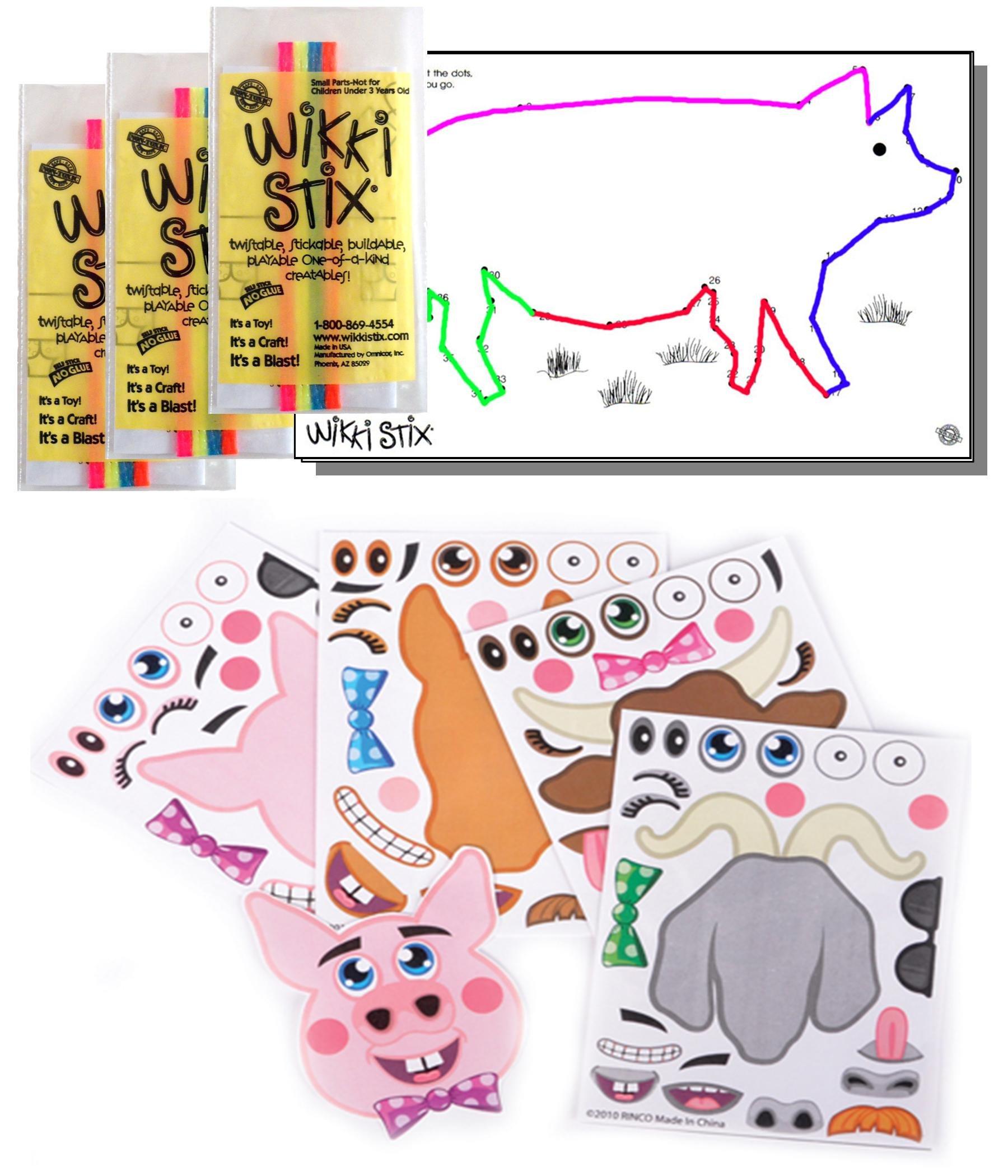 200 Barnyard Farm Animal Foam Stickers