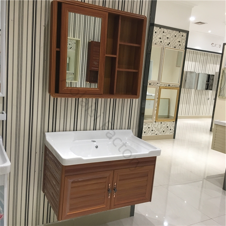 Aluminum Wall Mounted Washbasin Sliding Bathroom Vanity ...