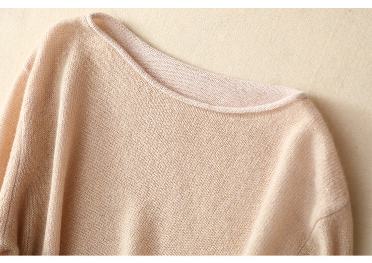 OEM Custom mode 12gg lente dunne gebreide 100% kasjmier vrouwen trui