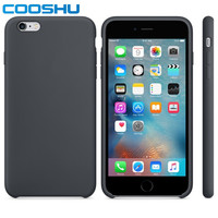 COOSHU Official Original Genuine Edible Grade Skin-Friendly Liquid Silicone Mobile Phone Case for Apple iPhone 6 6S Plus