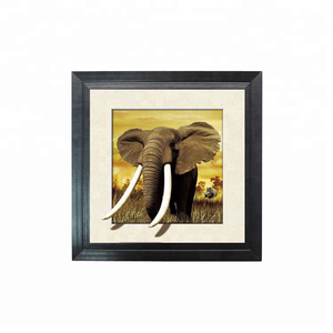5D lenticular picture of elephant with MDF frame for home decoration in stock and custom