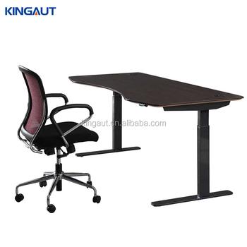 Electric Height Adjustable Standing Reception Desk Half Round Office