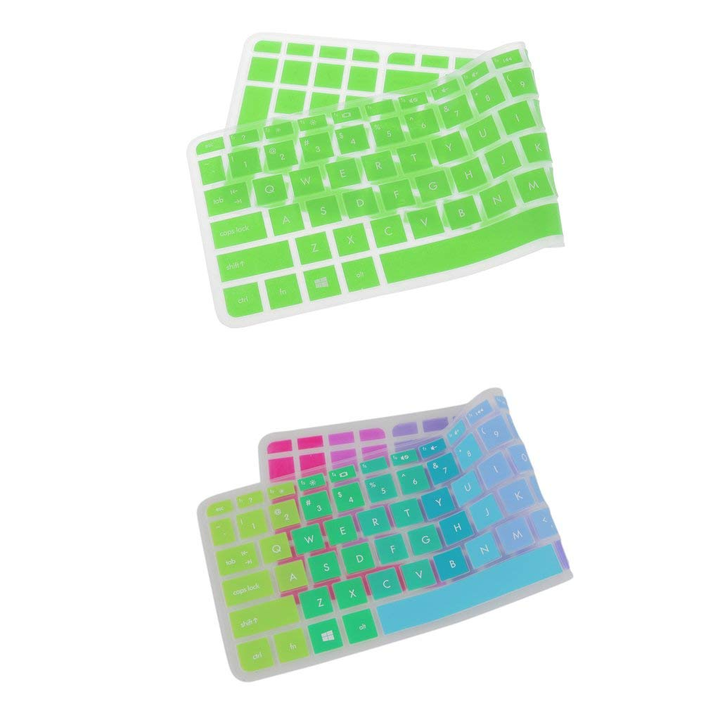 MonkeyJack 2x Waterproof Anti-Dust Silicone Keyboard Cover Skin for HP Pavilion 15''