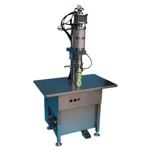 Good quality semiautomatic fresh air filling machine/bag on valve aerosol filler