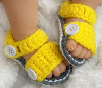 Handarbeit Gehäkelt Jungen Oder Mädchen Sandalen Baby Handgefertigte