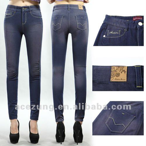 Designer knit jeans purple skinny pants ---top quality