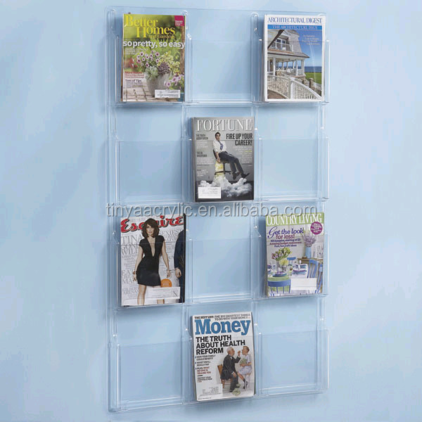 40 Pocket Clear Magazine Literature Holder Documentfile Organizer Mesmerizing Clear Plastic Magazine Holders