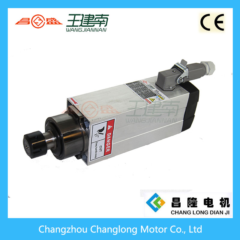 3.5kw 18000rpm high speed woodworking square air cooled CNC router spindle motor