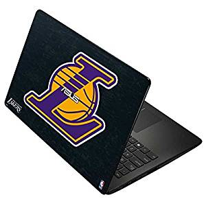 NBA Los Angeles Lakers Asus X502CA 15.6 Skin - Los Angeles Lakers Secondary Logo Vinyl Decal Skin For Your Asus X502CA 15.6