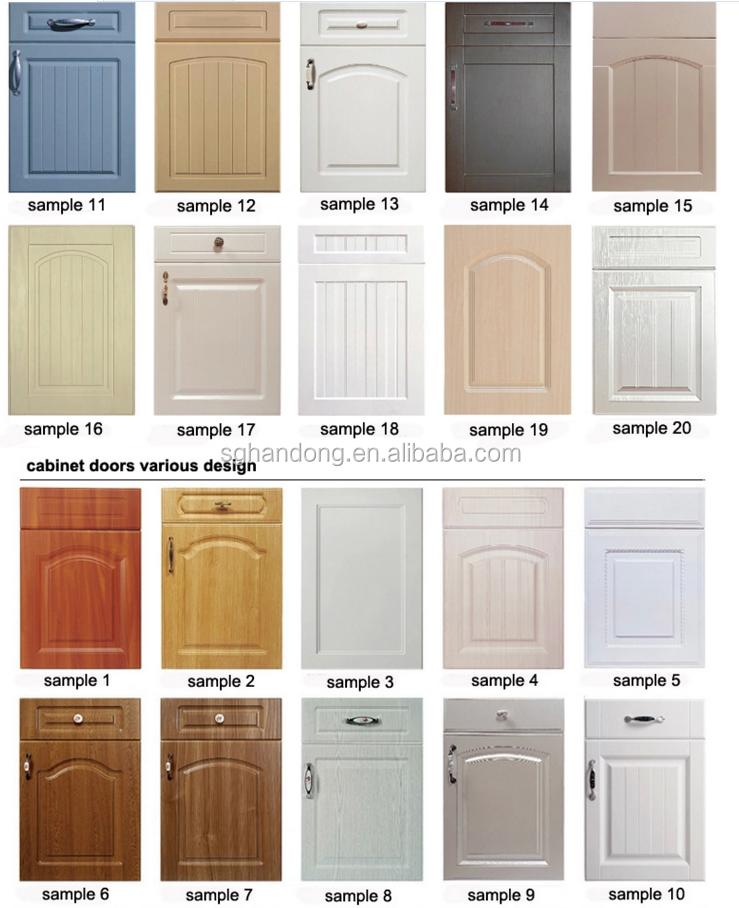 Mdf Kitchen Cabinets Price: Modern Home Kitchen Appliance Pvc Kitchen Cabinet Door