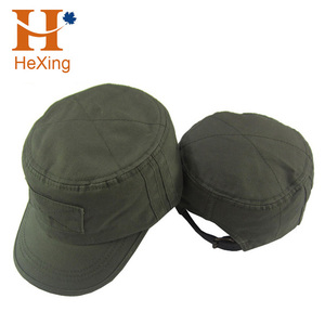 1fe038145dc3c 2017 new fashion custom style embroidery logo round cap army cap military  hat wholesale