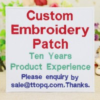 Custom embroidered patches/Quality Embroidery Patch/iron on patch