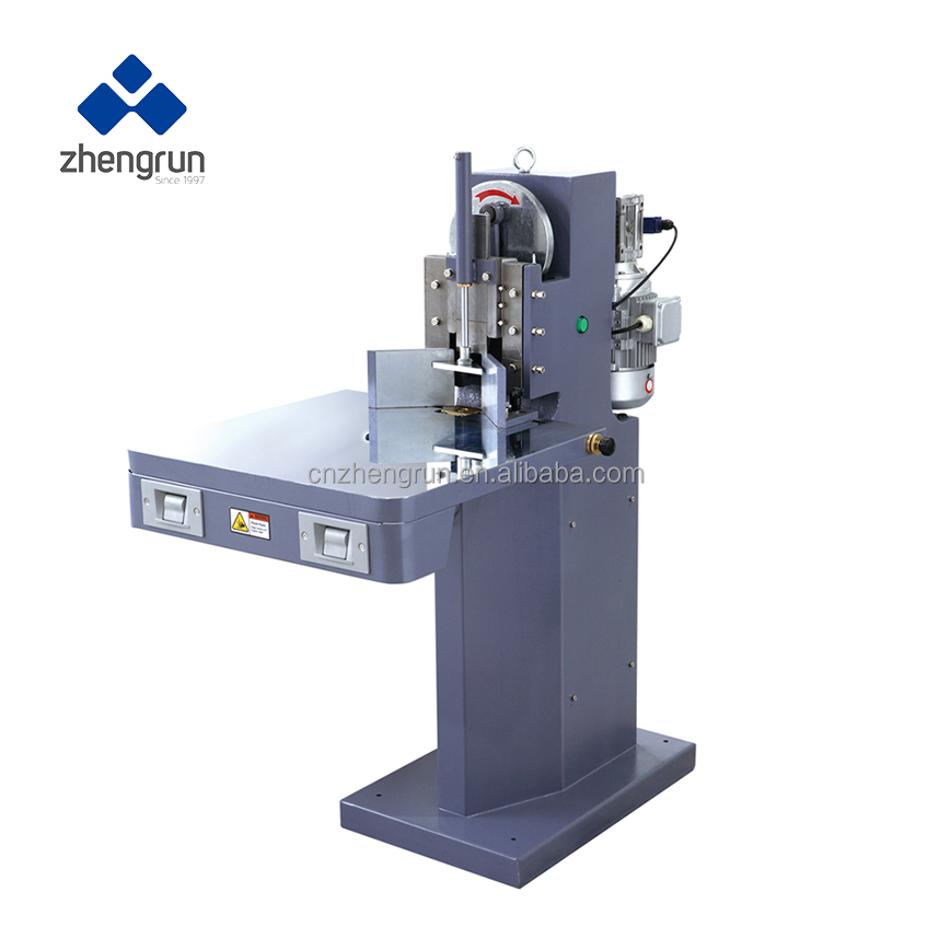 book angle cutter machine cutting round corner