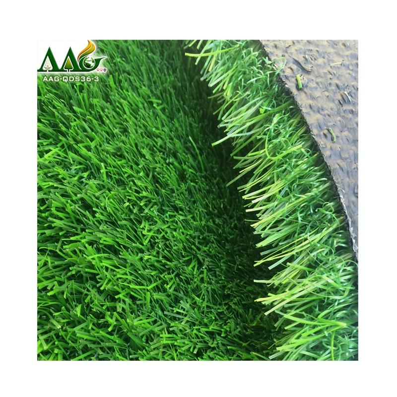 Synthetic lawn 36mm artificial grass for landscaping, Light green+dark green+light yellow+dark yellow
