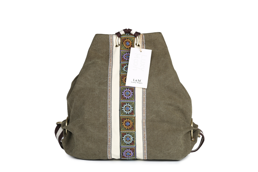 Luxy Moon Sac A Dos Ethnic Canvas Backpacks For Women Embroidery ... 4ff753774ce