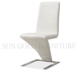Modern white Crocodile artificial leather dining chair (SZ-DC011)