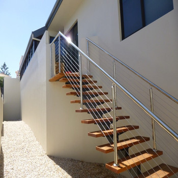 Modern Steel Wood Straight Staircase/stairs With Customized .