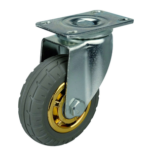 top plate caster wheel diameter 150 mm rubber wheel for trolley