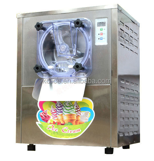 Free shipment tiny table top commercial hard ice cream machine