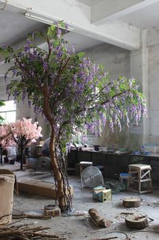 2015 hot sale indoor large decorative wisteria tree artificial wisteria tree buy large. Black Bedroom Furniture Sets. Home Design Ideas