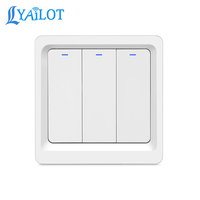 New 86*86 Eu Standard Tuya Smart Switch Wifi Wall 123 gang smart switch