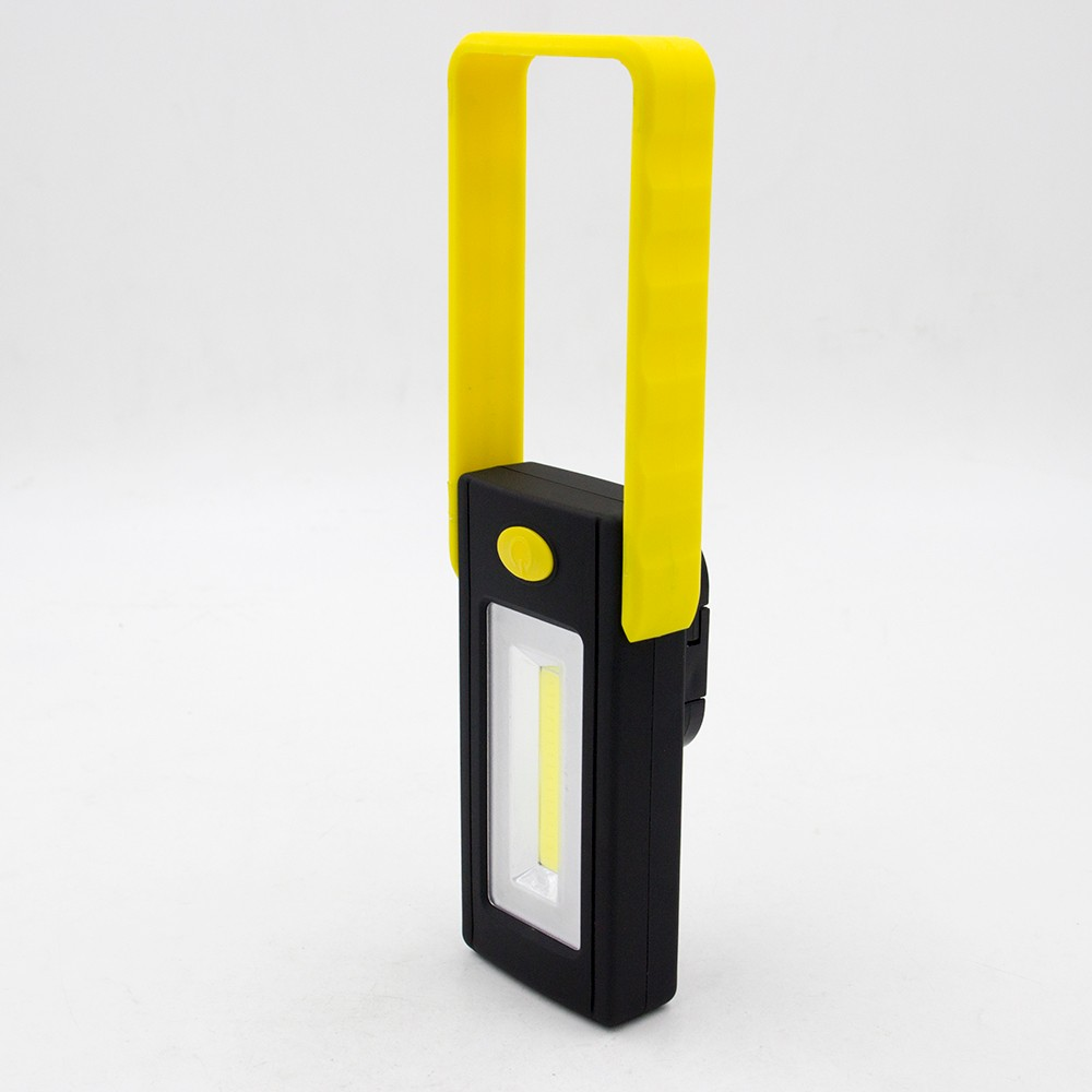 COB LED Work Light Portable Inspection Flashlight with Strong Magnetic Hook and Support Stand Great for Campin