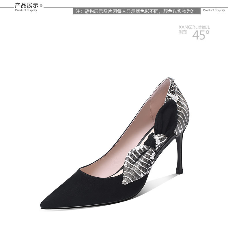 girls wholesale decorated shoes beautiful knot Lady bow genuine pumps leather AxqwTPUOv8