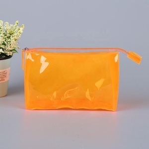 Factory Price Customer logo Printed recycled Clear waterproof PVC Packing Pouch Zipper Cosmetic Makeup Bag