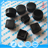 Custom made black square and round PTFE plastic plugs for furniture