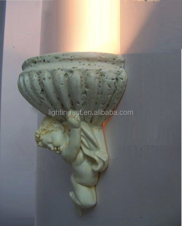 Modern Love Angel Carved plaster Bedroom Wall Lamp Sconces Bracket Aisle Lights