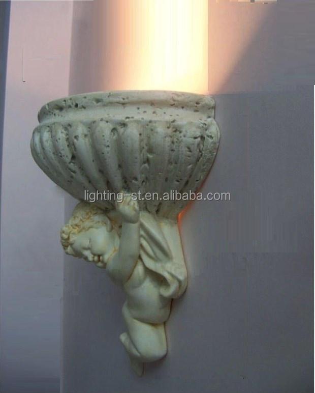 Amore moderna angelo intaglio gesso lampada da parete camera da ...