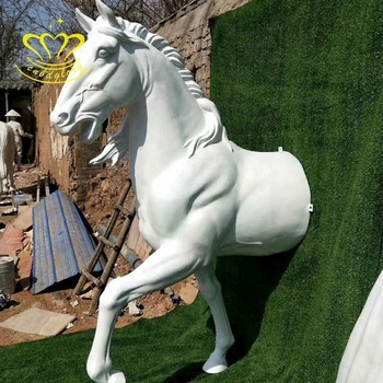 High Quality Fiberglass Crafts New Product Life Size Horse Model Sculpture