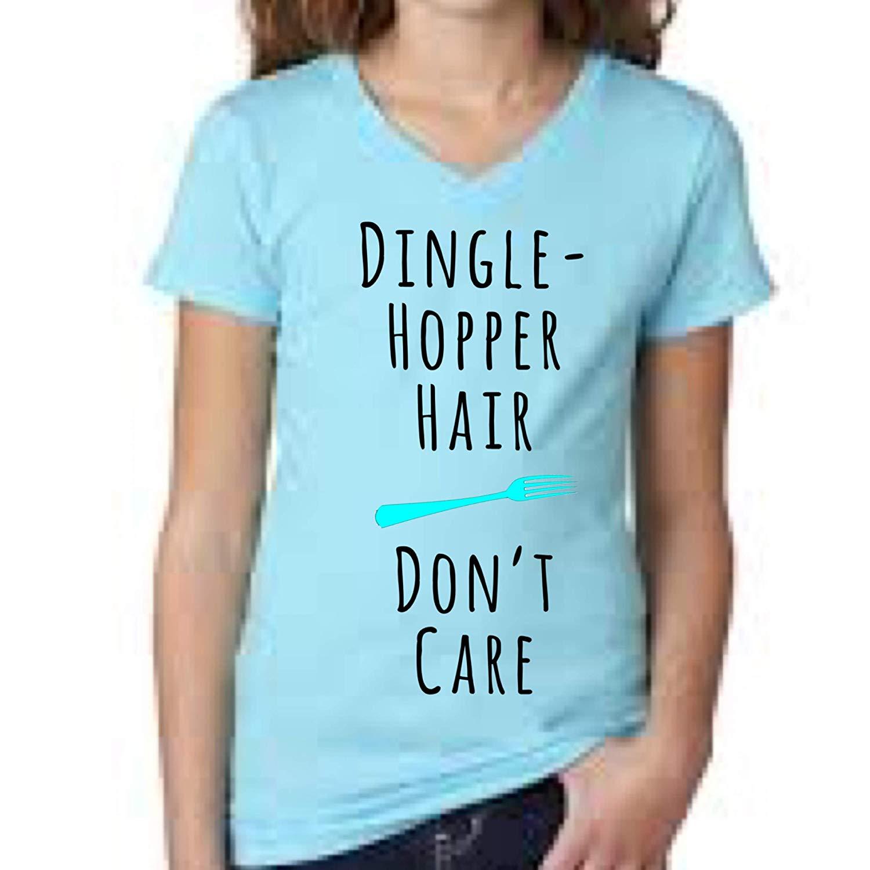 bfc4e7b9 Get Quotations · Little mermaid kids shirt, dingle hopper hair don't care girl  shirt, girls