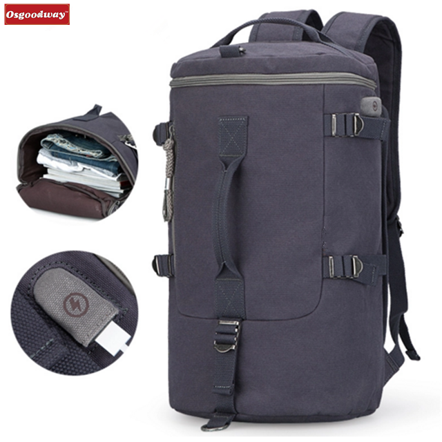 Osgoodway High Capacity New Arrival Cylinder Package Multifunction Travel Duffle Bag Backpack for Business Sports Trip