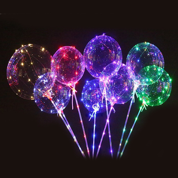 Luminous 18 inch bobo Led Balloon Transparent Round Bubble Decoration Party  Christmas decor Glowing Balloon globos