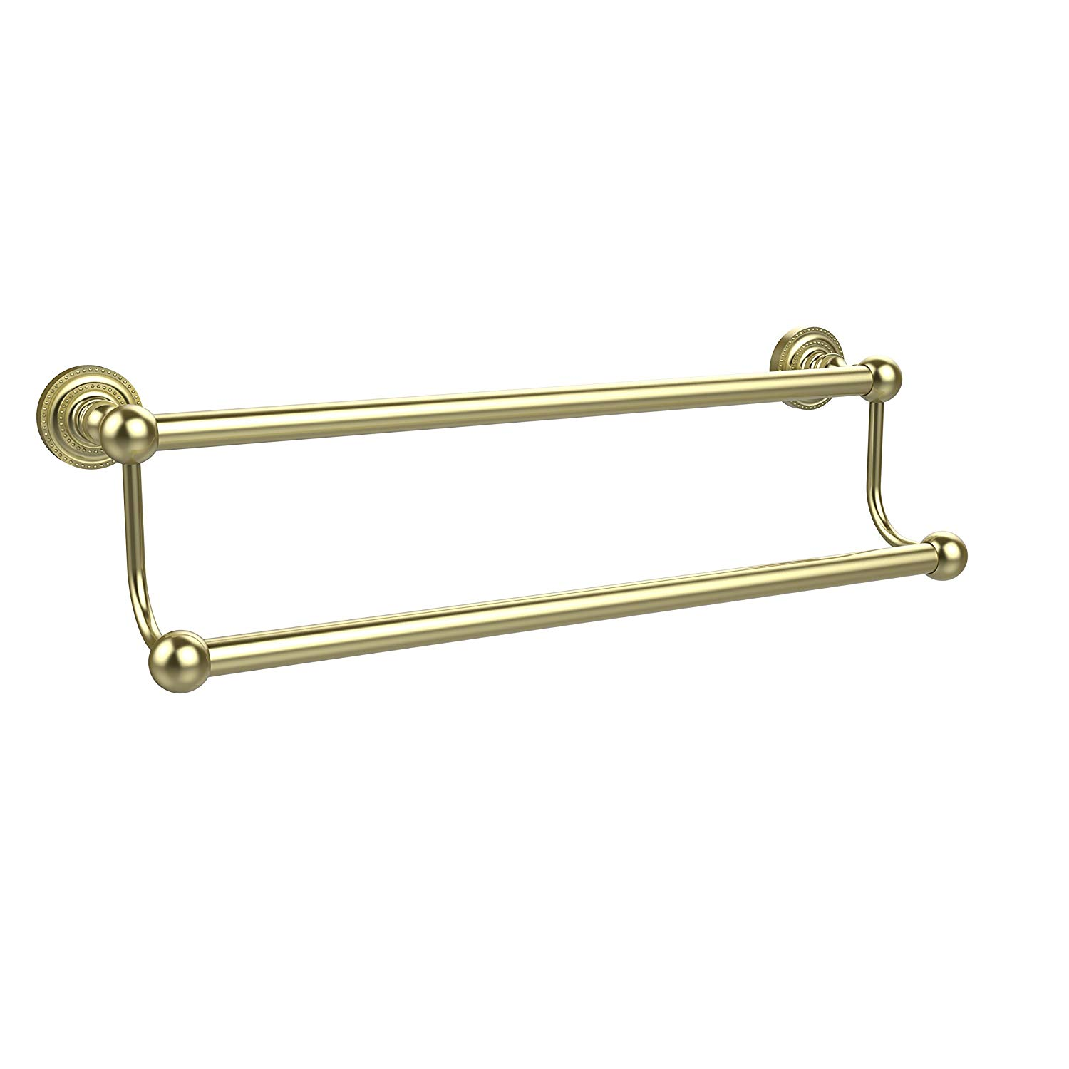 "Allied Brass DT-72/30-SBR 30"" Double Towel Bar Satin Brass"