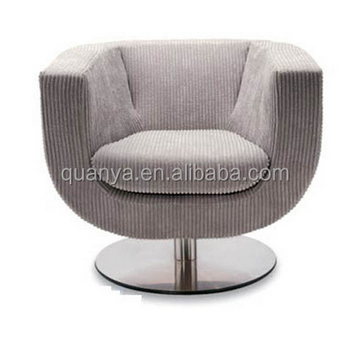 Comfy Upholstered Tub Sofa Chair Swivel Single Leisure Living Room Sofas