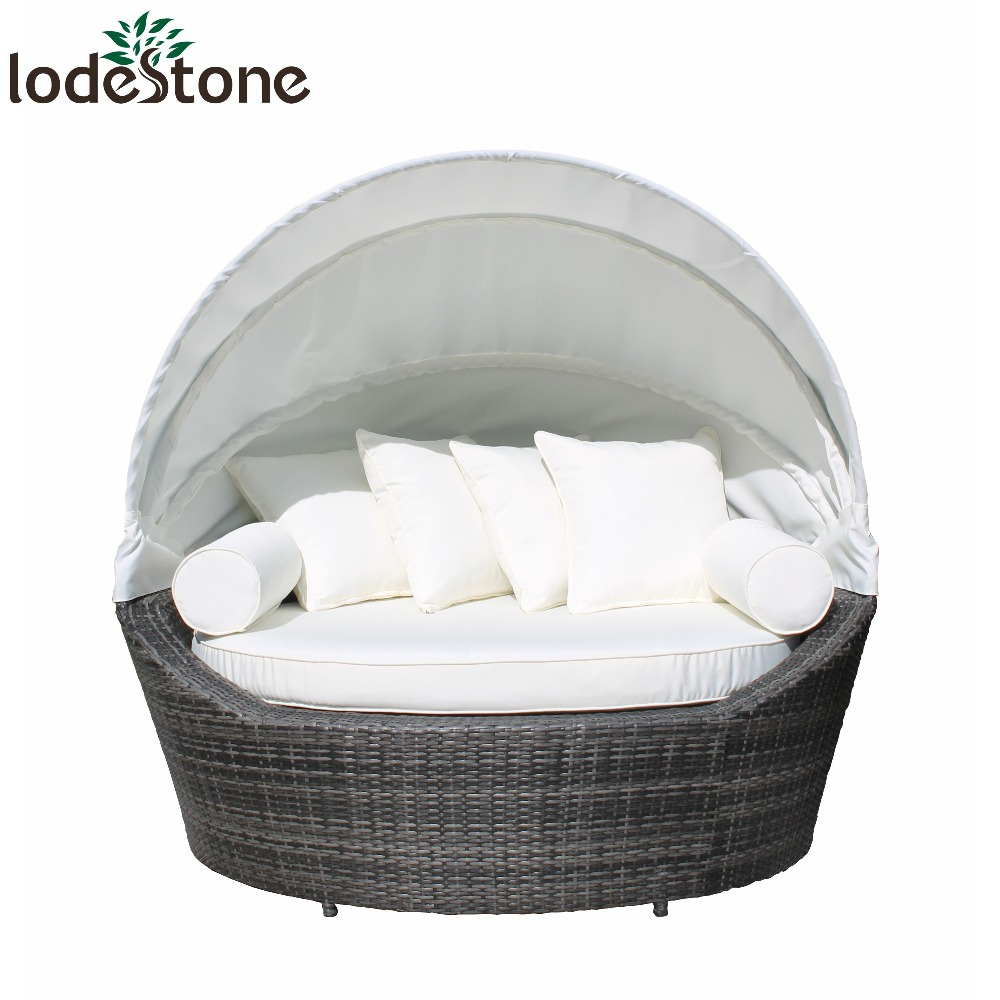 Canopy Daybed Outdoor Patio Rattan Lounger Sun Furniture Espresso Sofa  Wicker Bed Convene Double Garden Round Modular - Buy Outdoor Bed,Outdoor  Sofa ...