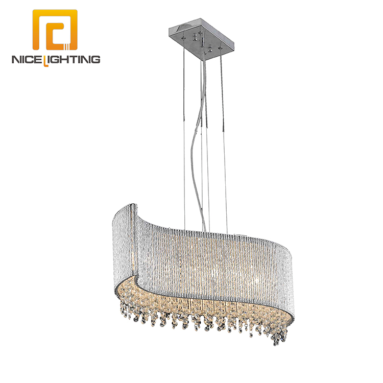 NICE lighting factory large hotel G9 Metal chrome modern lighting chandelier crystal