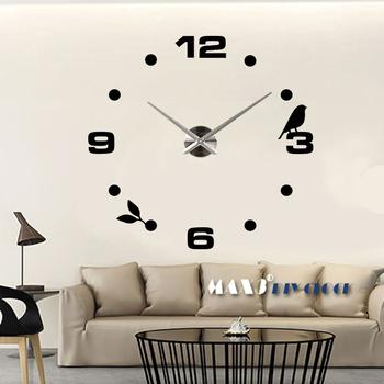 d mejor decoracin del hogar del espejo diy del reloj de pared nica grandes pegatinas