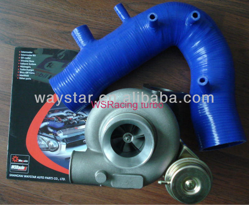 TD06 25G turbocharger for Subaru WRX STI Impreza EJ20 EJ25 2001-2007 with WRX air intake hose silicone