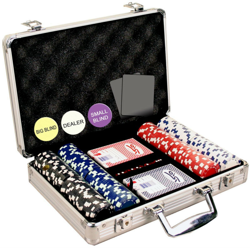 200 dadi a righe 11,5 grammo poker chip set