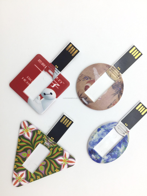 Card Type Usb Pen Drive,U Disk,Round Business Card Usb Flash Drive ...